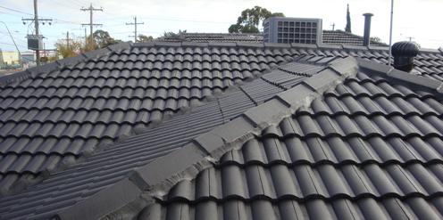 black roof tiles