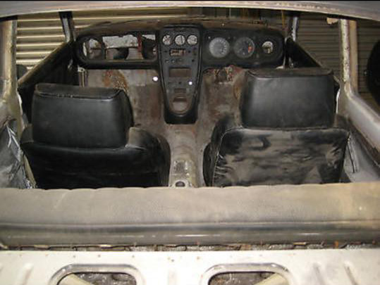 inside of car