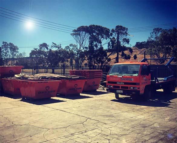 Skip truck service