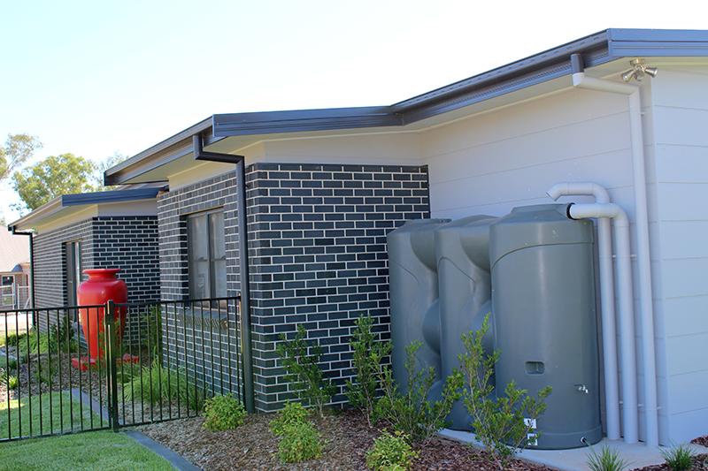 slimline rain water tank